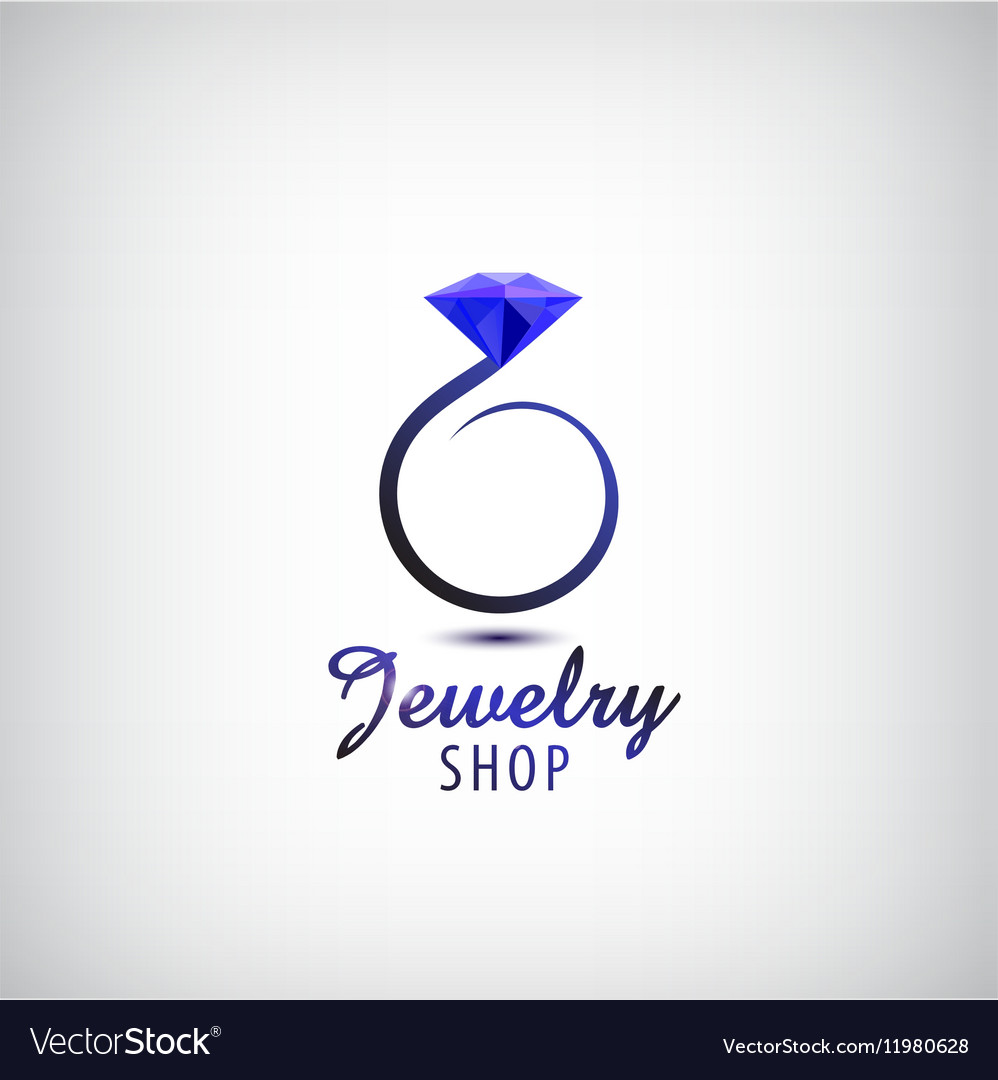 jewelry logo design template circle ring vector image