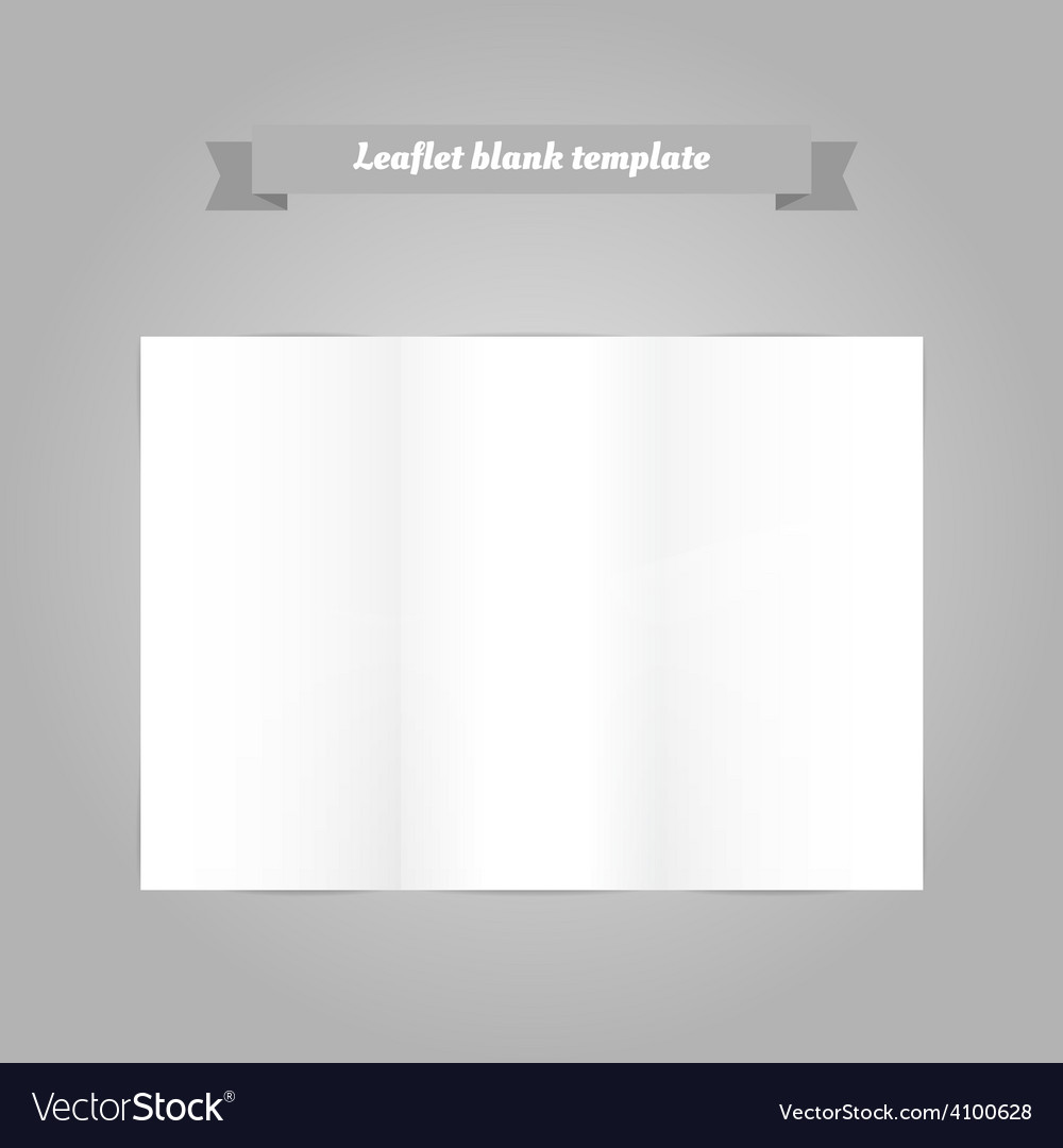 Leaflet blank template