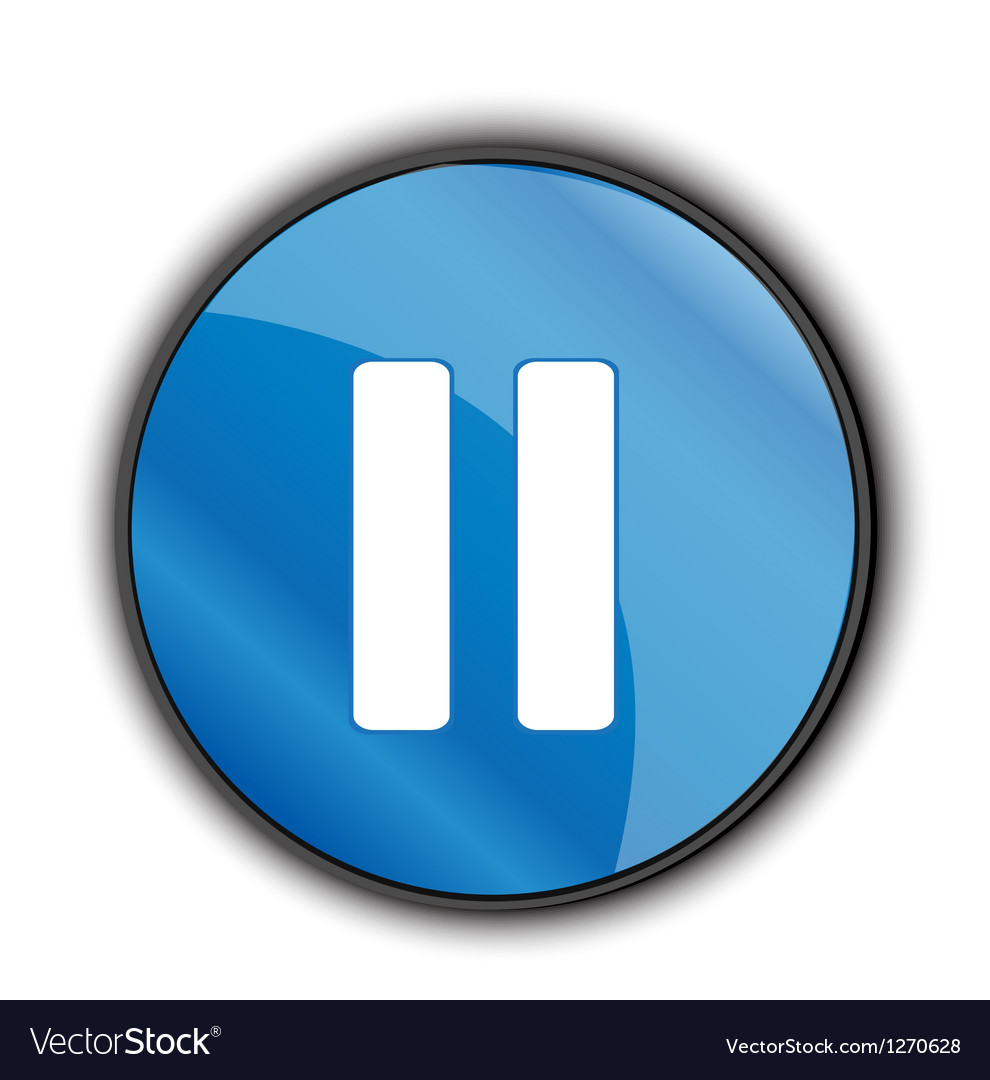 Pause button vector image