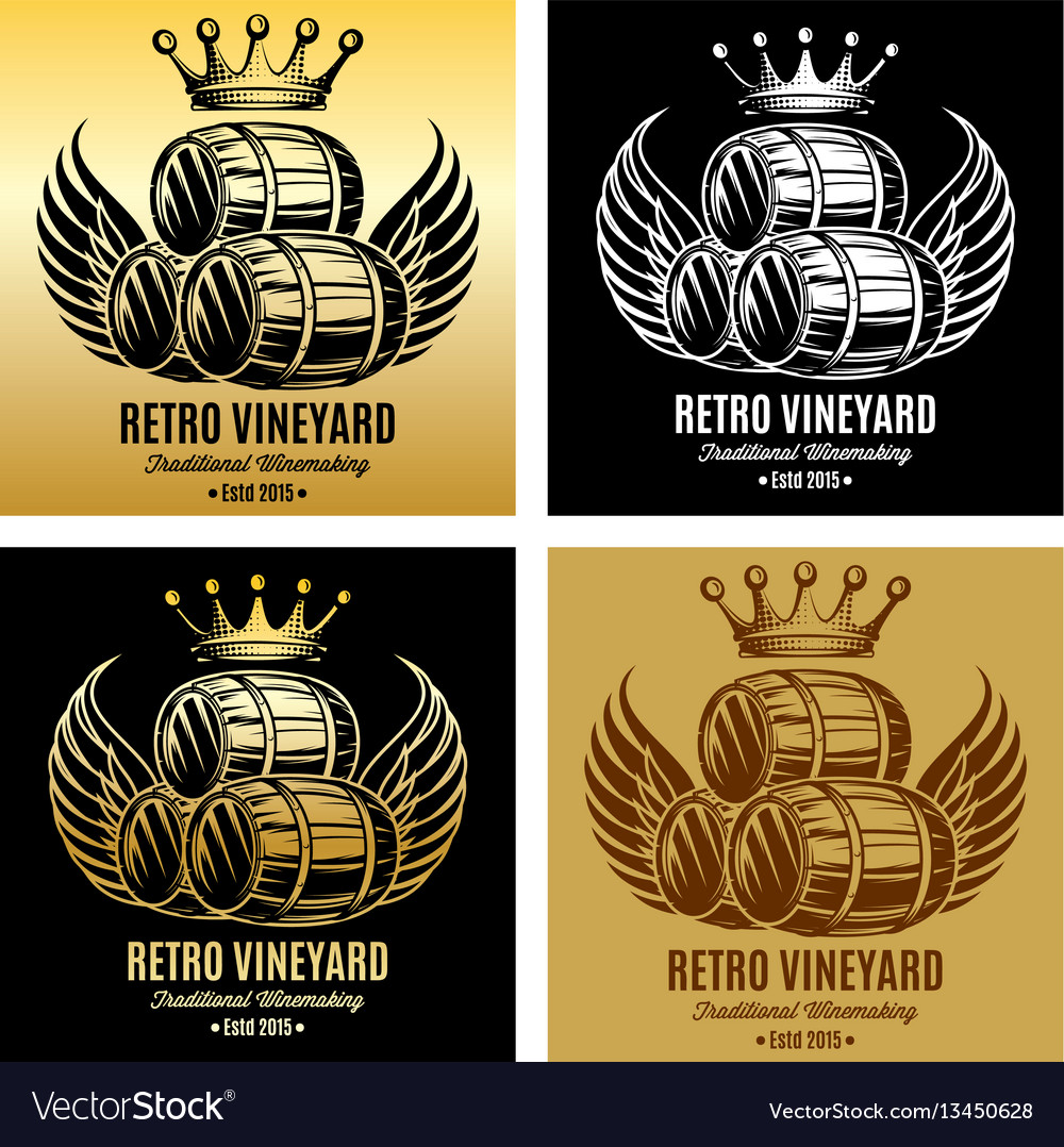 Template for branding beer or wine brand vector image