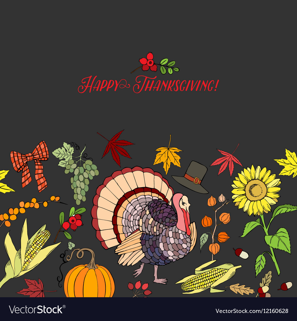 Thanksgiving Day Decorations vector image