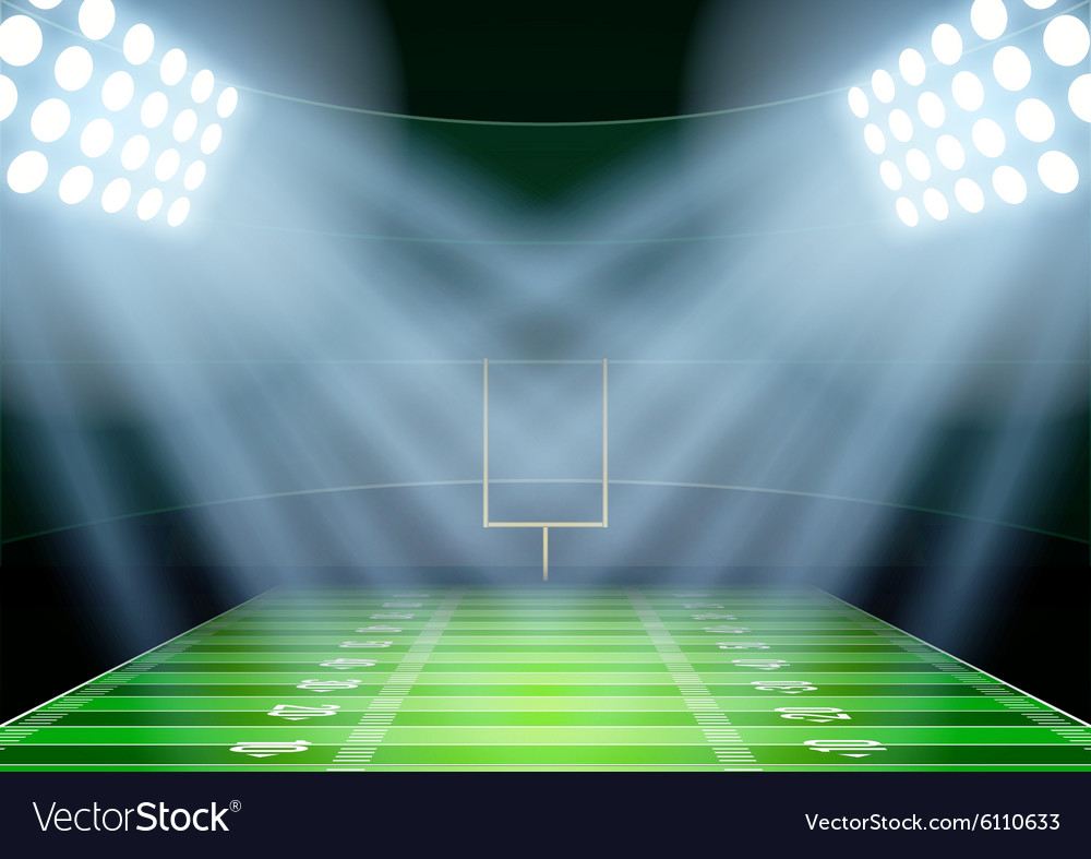 Background for posters night american football