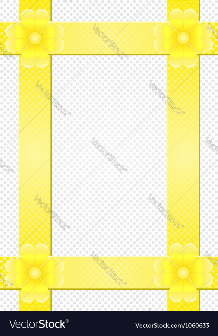 Gray background with yellow stripes and a flower vector image