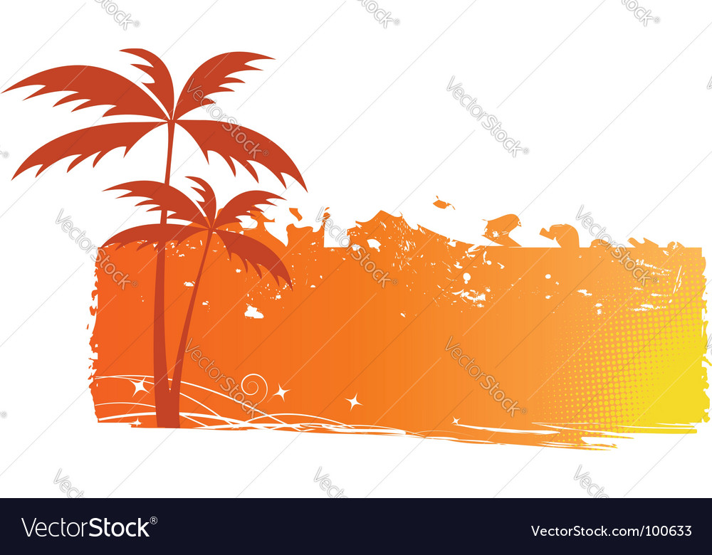 palm trees background. Grungy Background With Palm