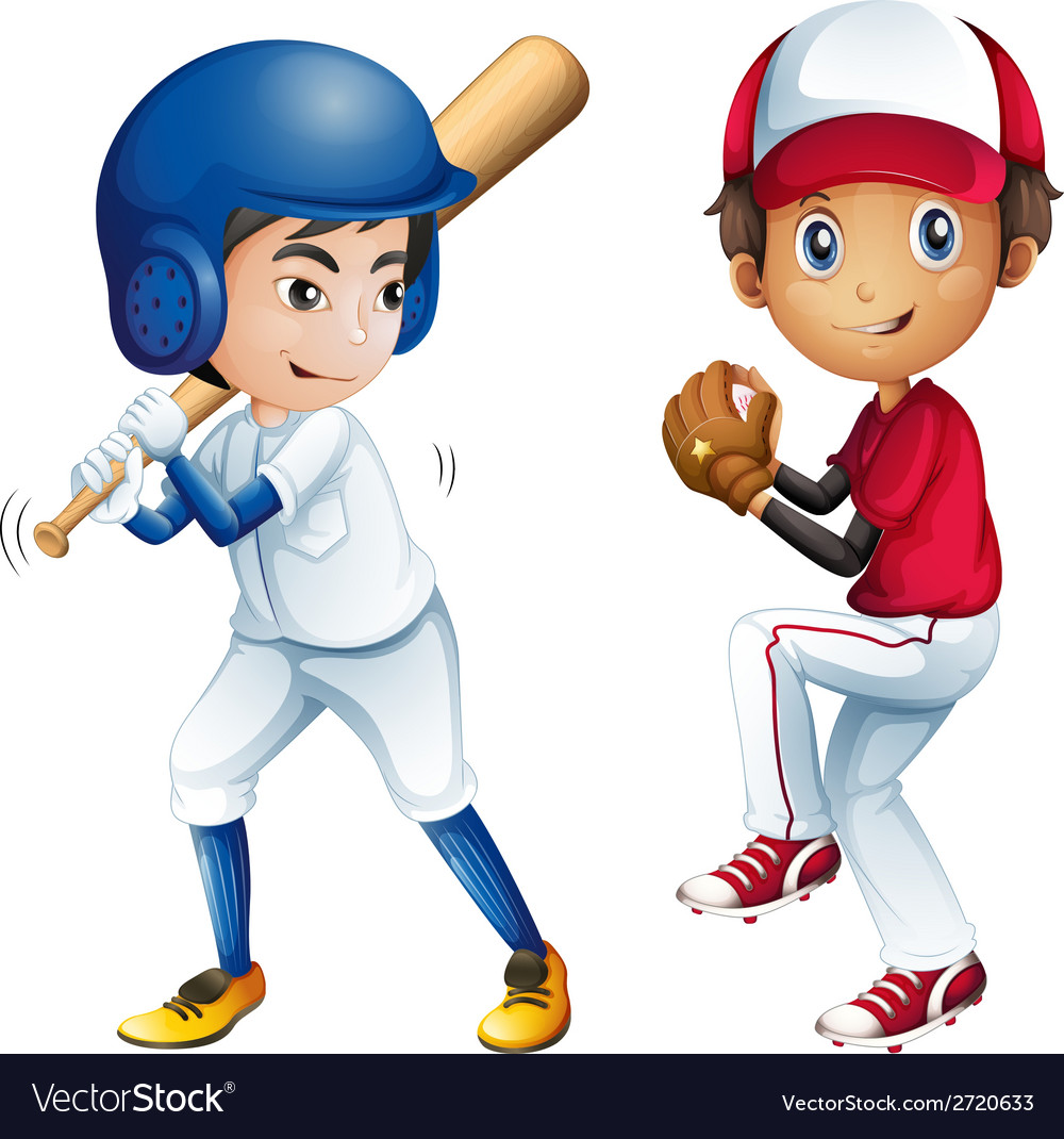 Kids playing baseball Royalty Free Vector Image (1000 x 1070 Pixel)