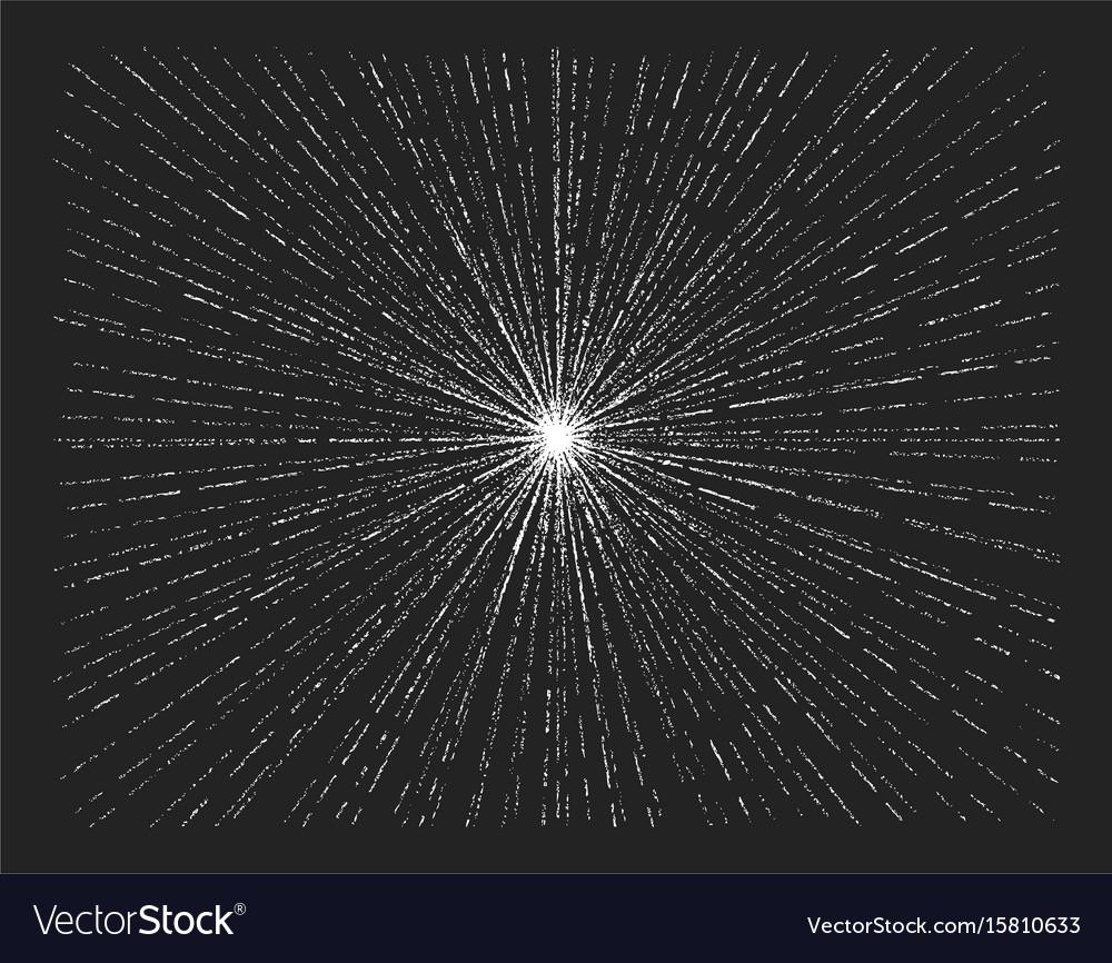 Light rays sunburst starburst hand drawn chalk vector image