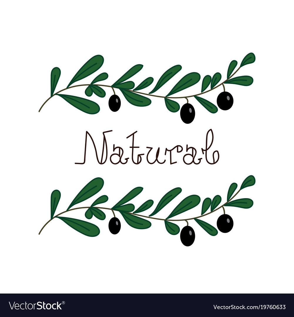 Natural quality handwritten logotype