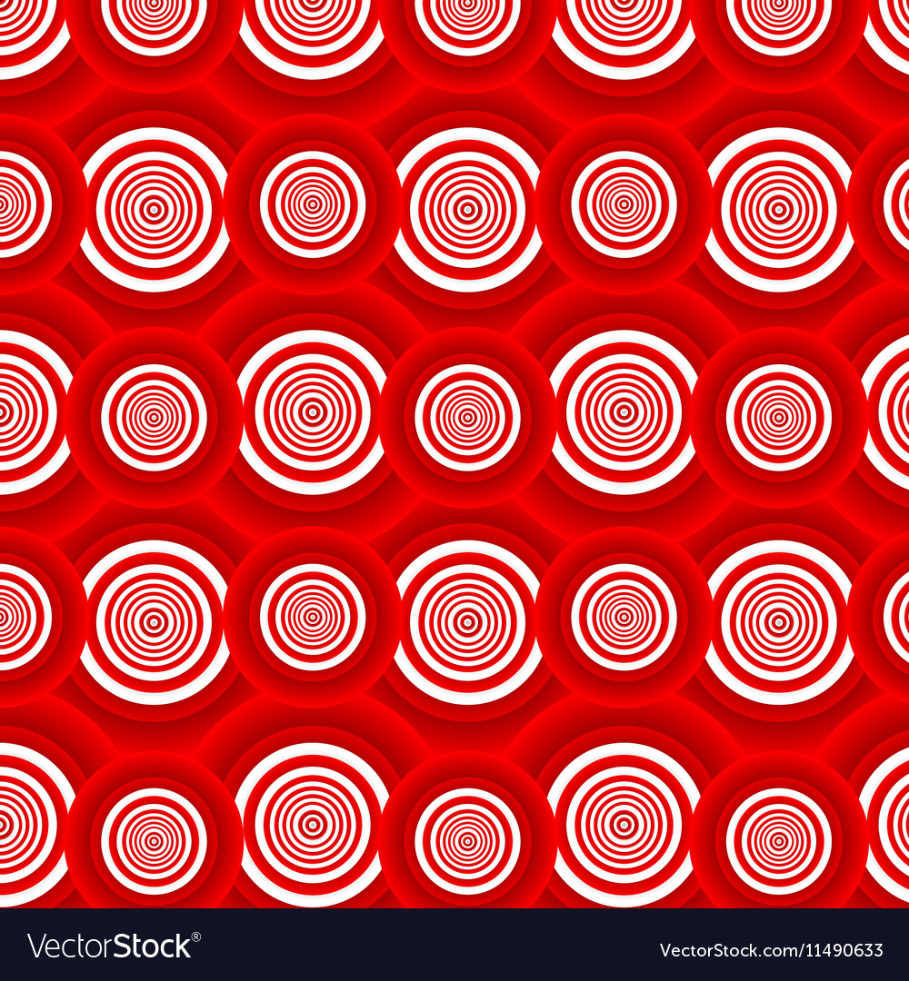 Pattern of red circles