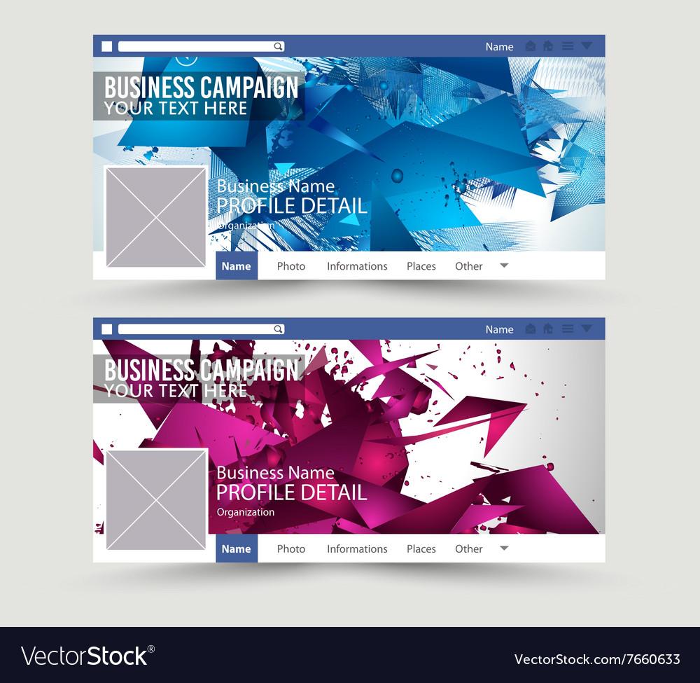 Social Media Web Banner Website Header for page