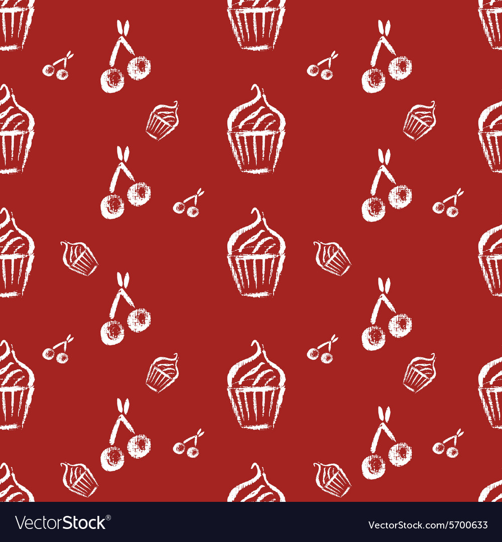 Vintage bakery hand drawn seamless pattern
