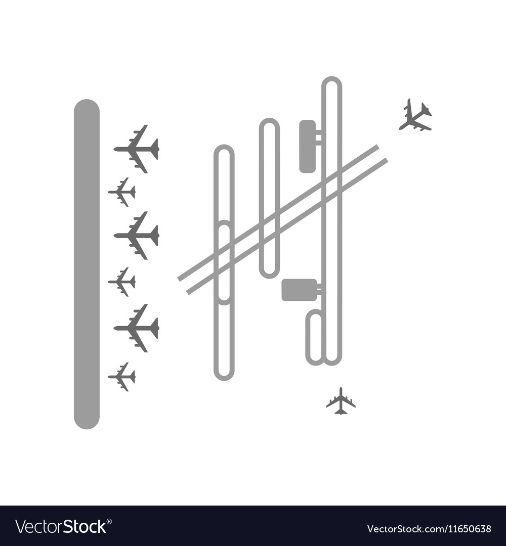 Airport terminal vector image