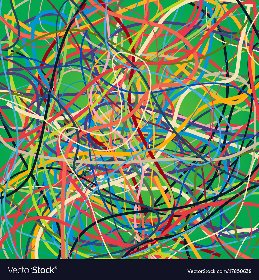 background with moving colorful lines bright vector image