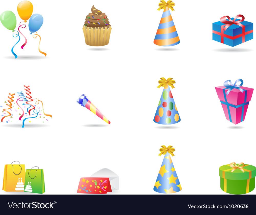 Birthday icon vector image