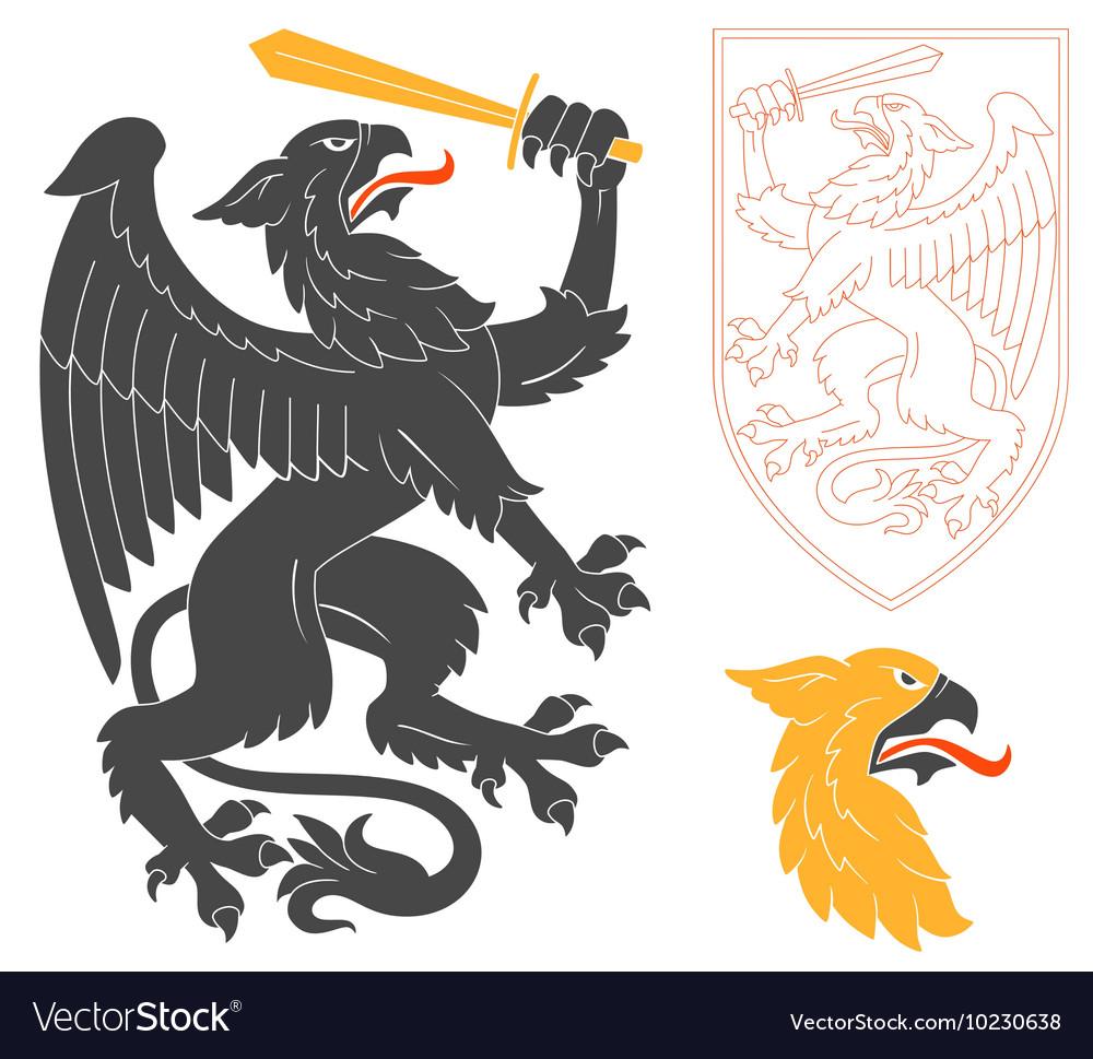 Black Griffin vector image