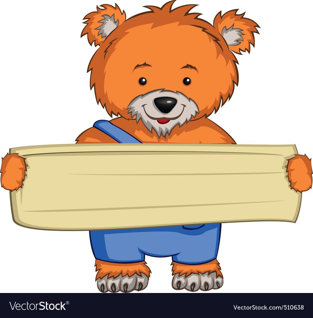 cartoon character bear royalty free vector image rh vectorstock com vector cartoon people vector cartoon fish
