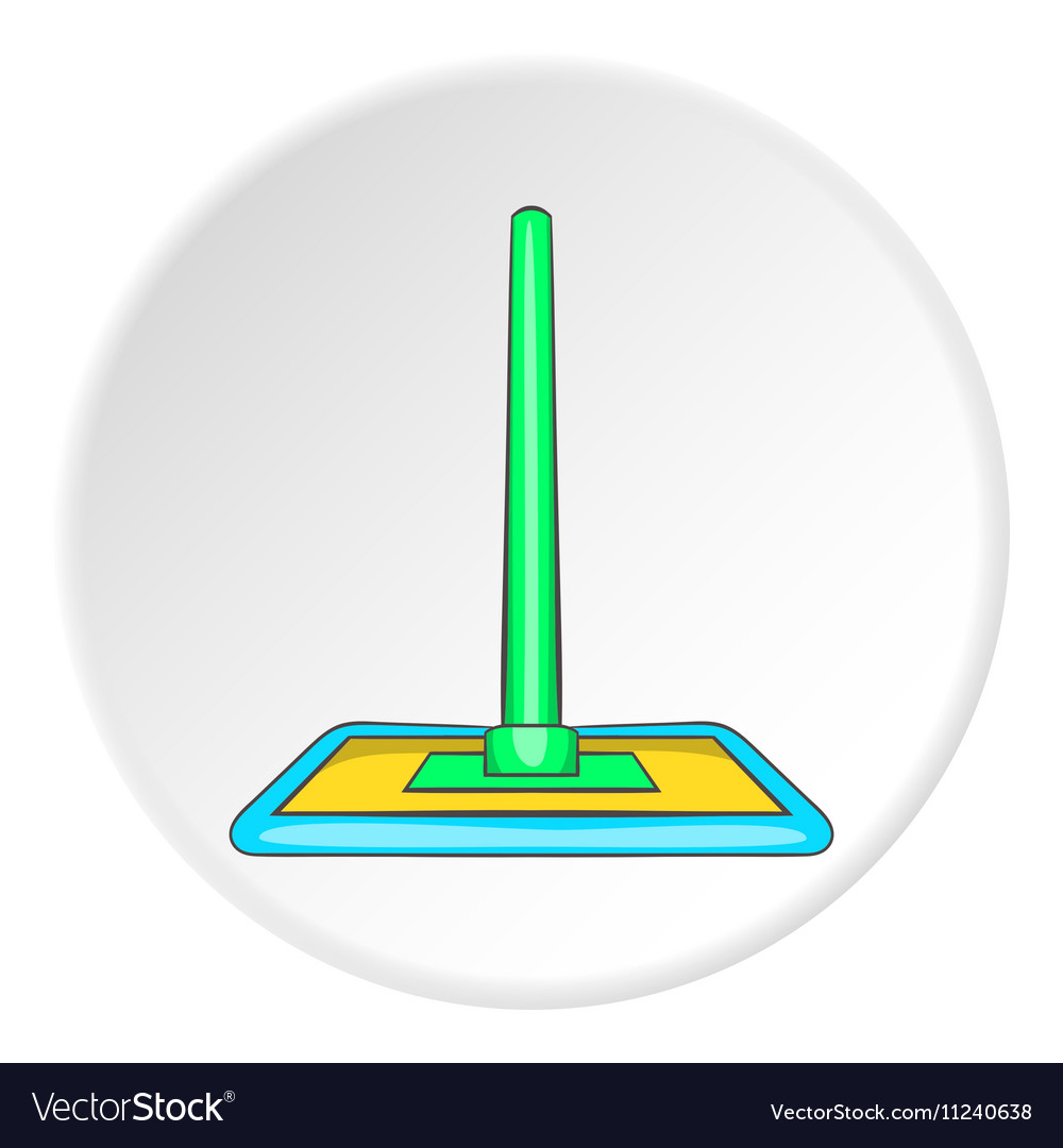 Floor cleaning mop icon cartoon style