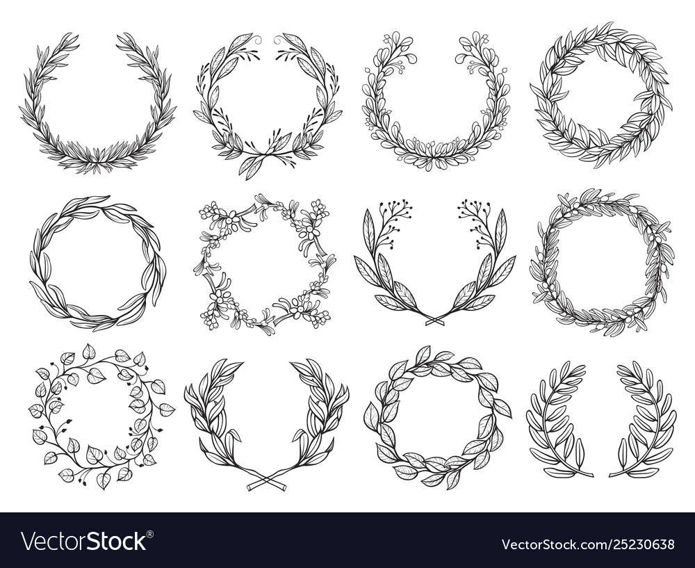 Flower frame sketch set fashion and romantic