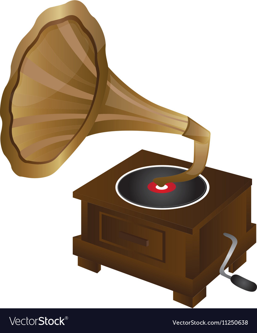 gramophone vintage icon image royalty free vector image gramophone vintage icon image royalty free vector image
