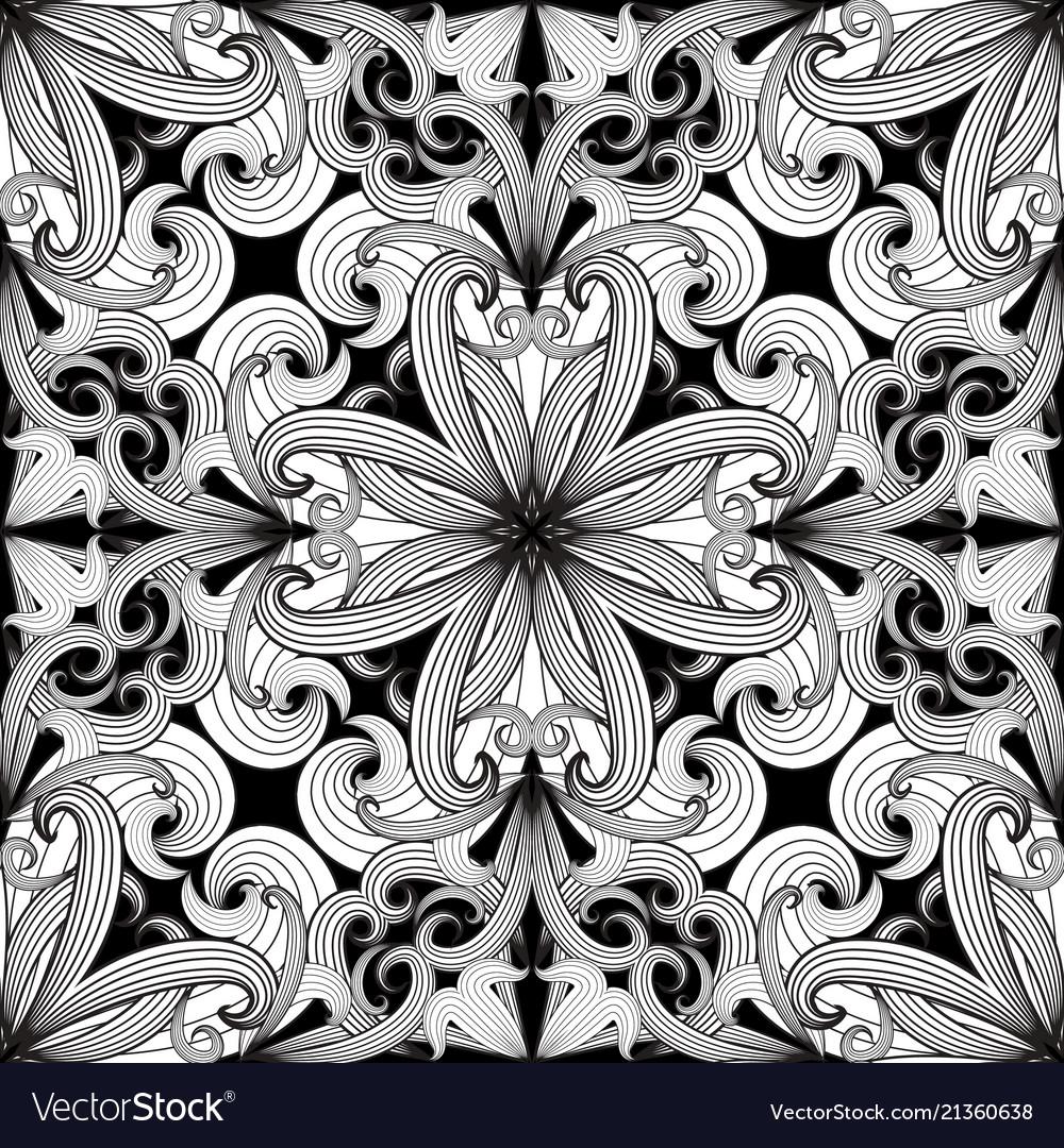 Ornamental paisley seamless pattern