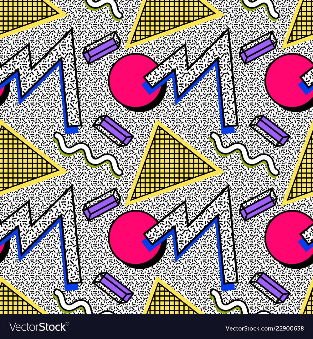 Seamless pattern 80s