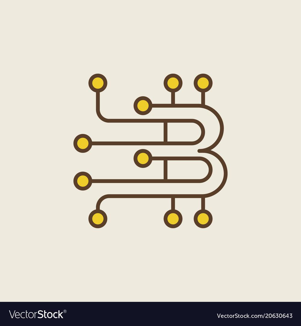 Blockchain technology creative modern logo