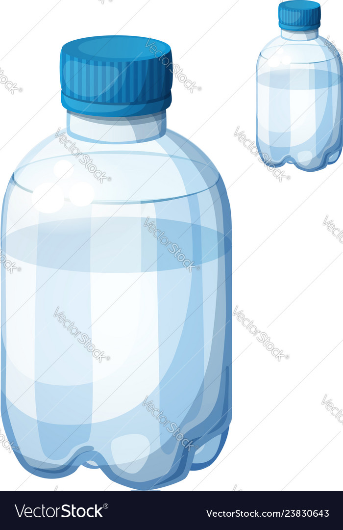 Bottle of water detailed icon isolated on