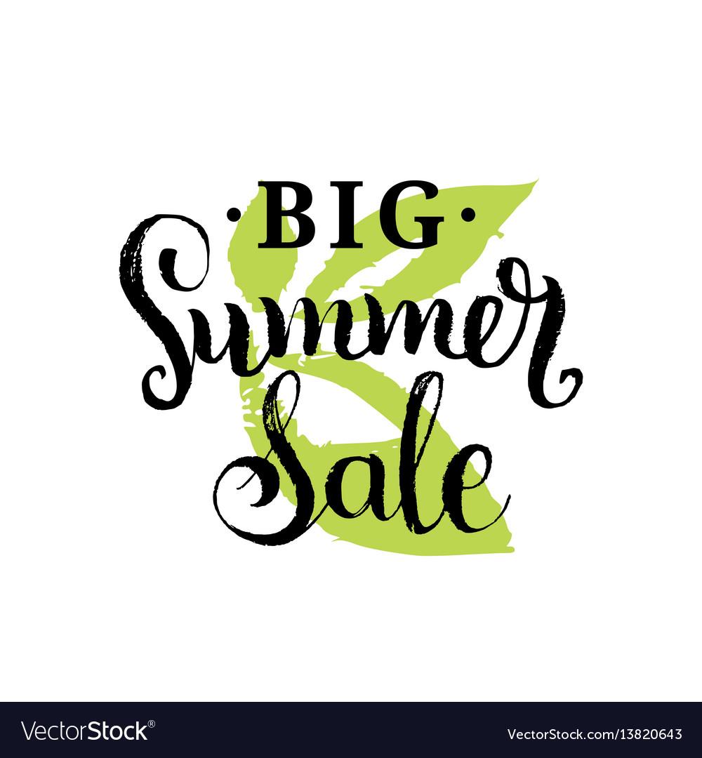 Handwritten big summer sale on
