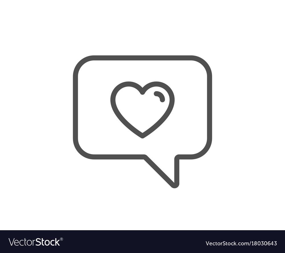 Heart in speech bubble icon love symbol