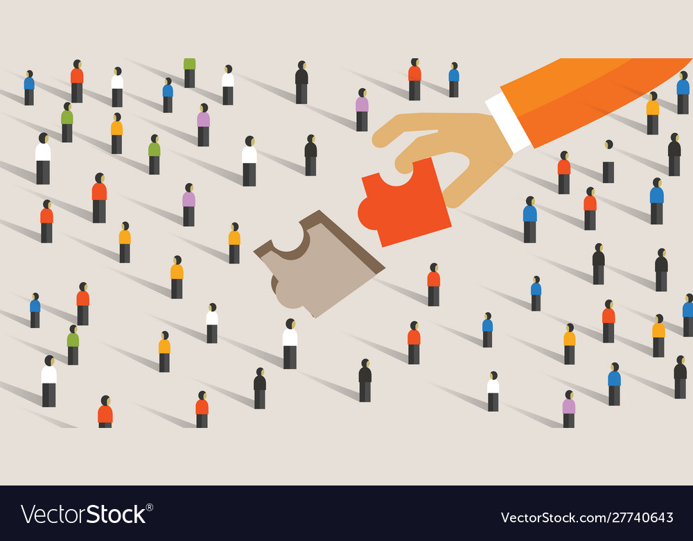 Market gap concept business man holding jigsaw