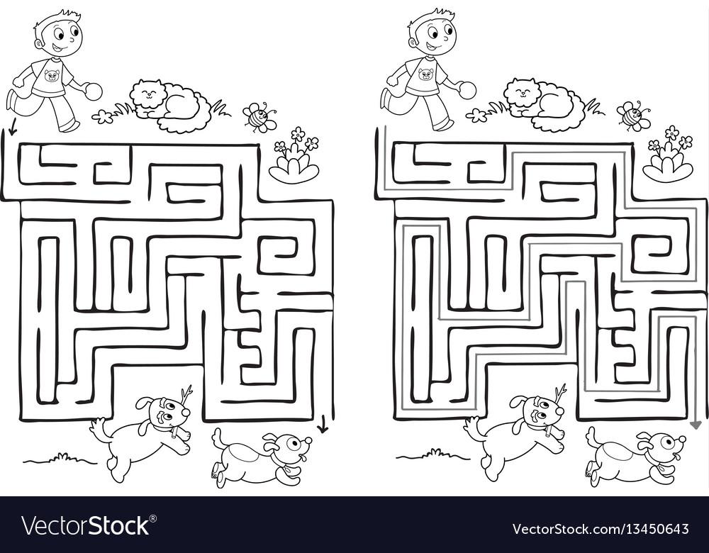 Maze game for children