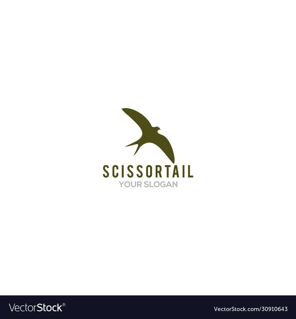 Simple scissortail logo design