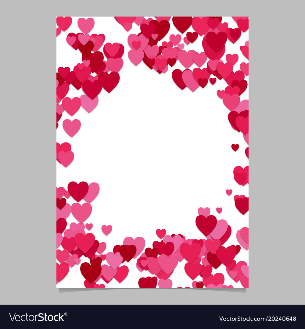 Abstract chaotic heart page template design