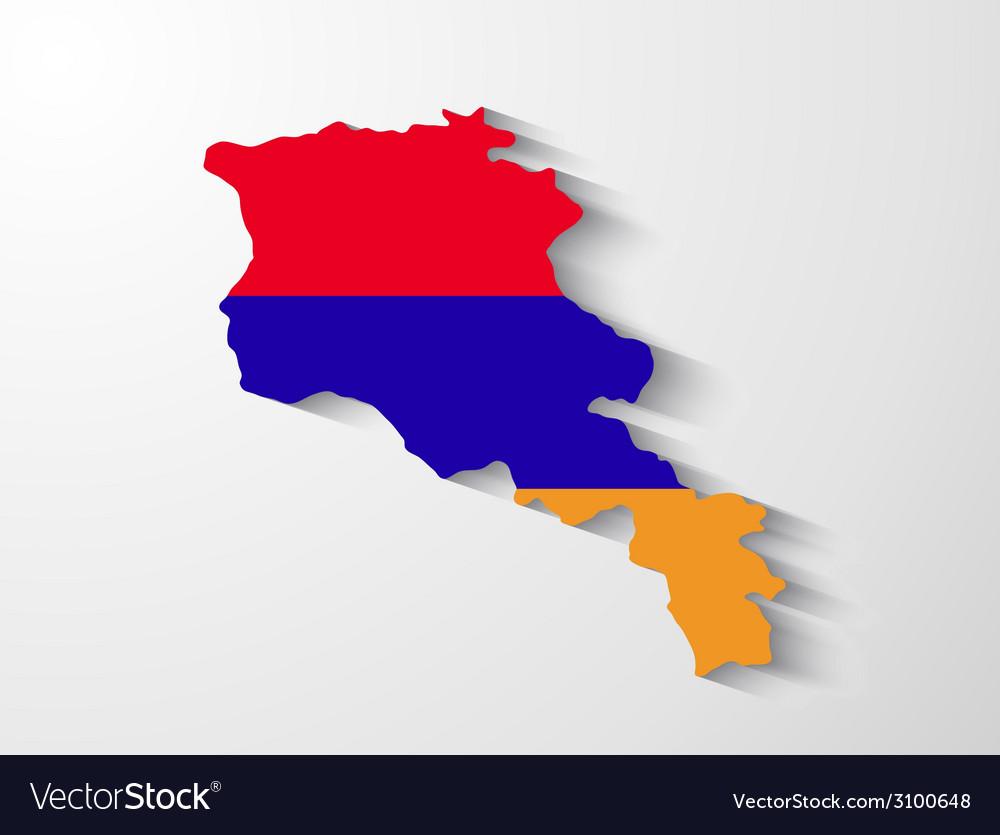 Armenia map with shadow effect