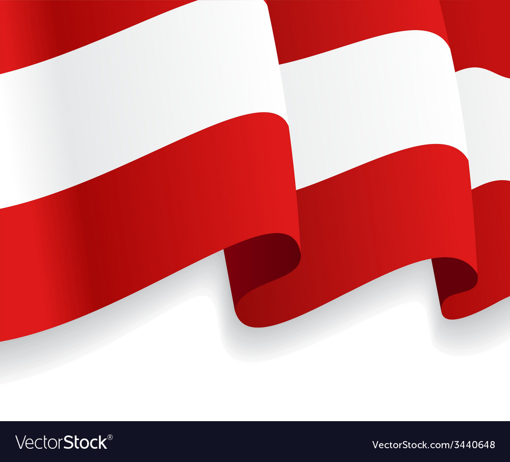 Background with waving Austria Flag
