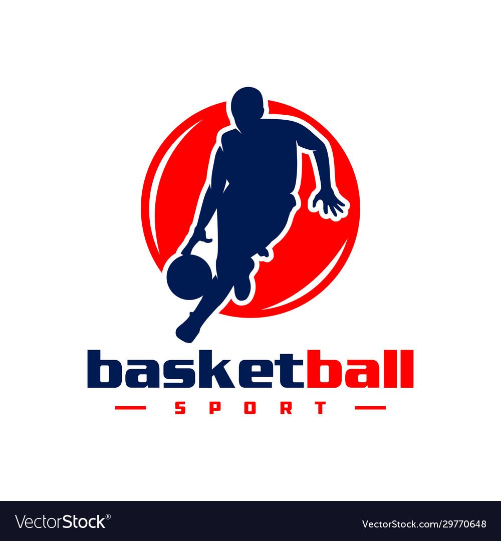 Basketball sports logo design
