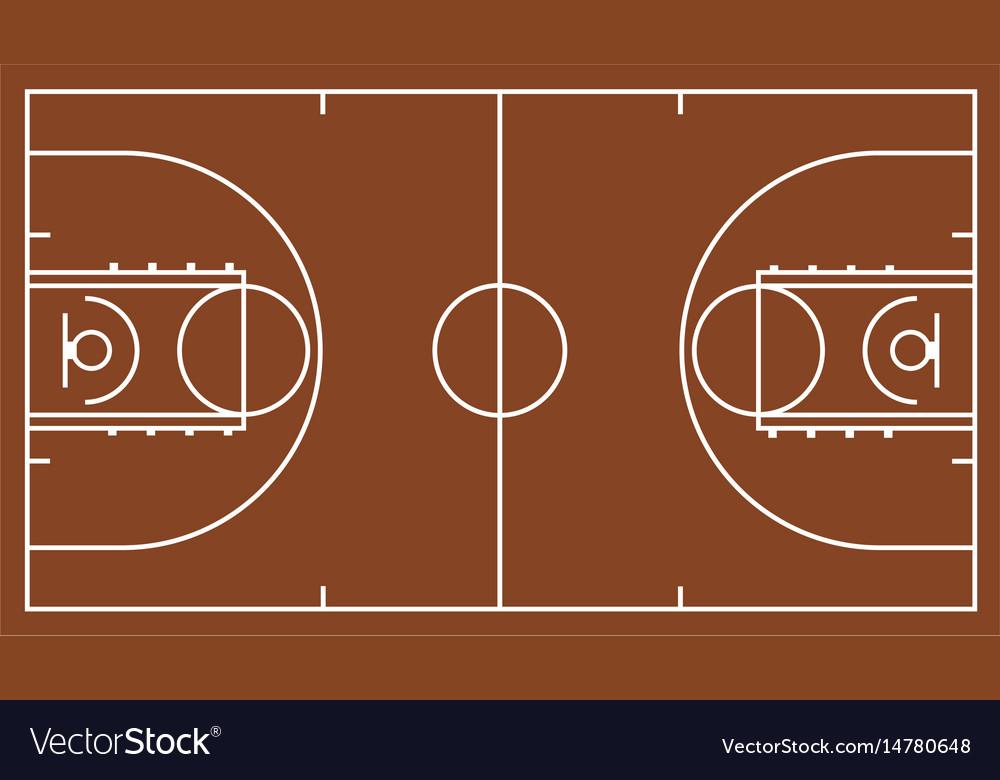 Brown basketball court