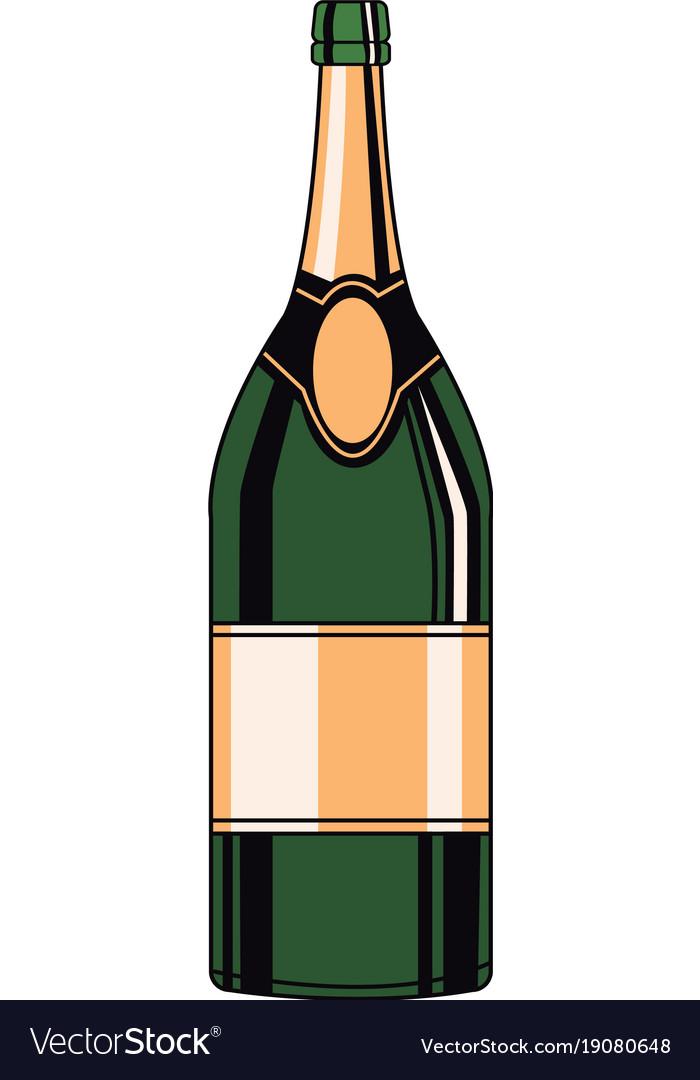 Champagne bottle pop art