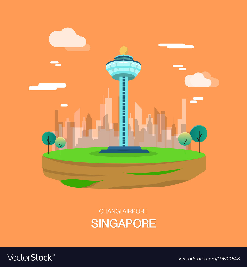 Changi airport landmark in singapore design