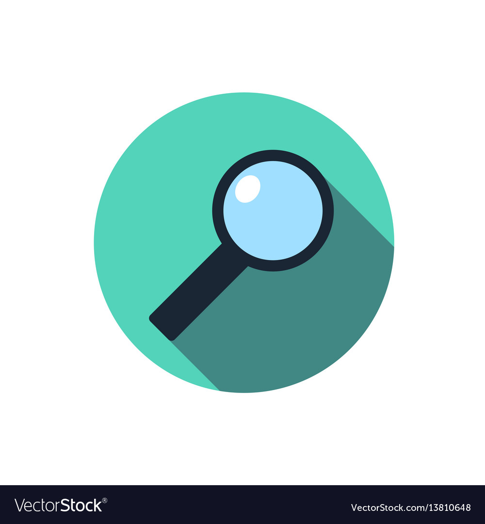 Flat magnifying glass icon question with a long