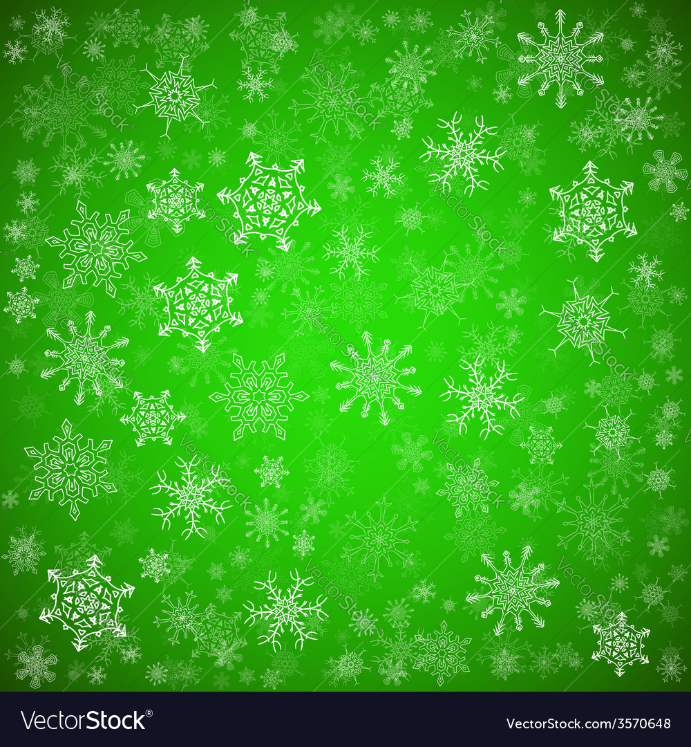 Green Christmas Background With Different