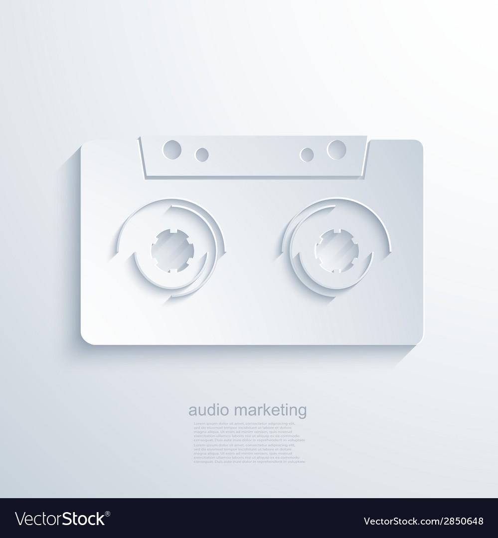 Modern audio marketing background
