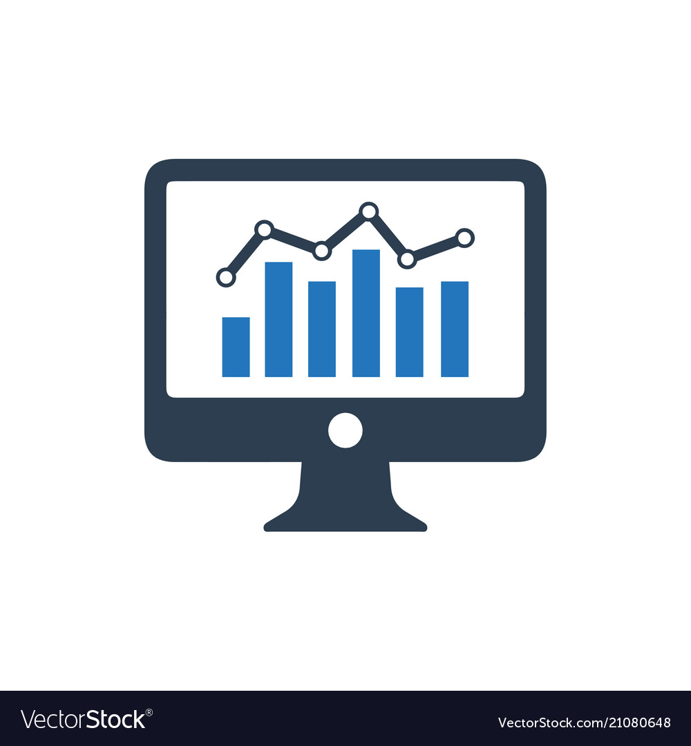 online analytics icon royalty free vector image vectorstock