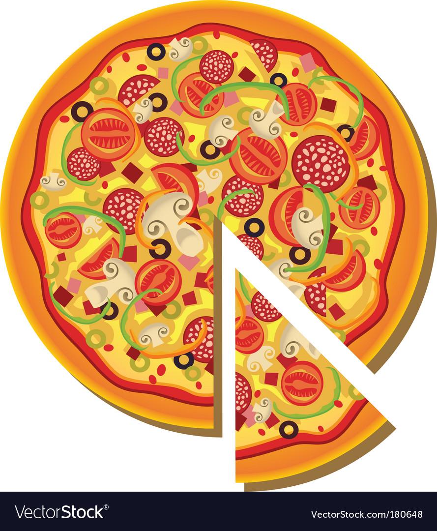 pizza royalty free vector image vectorstock rh vectorstock com pizza vectoriel gratuit pizza vector icon