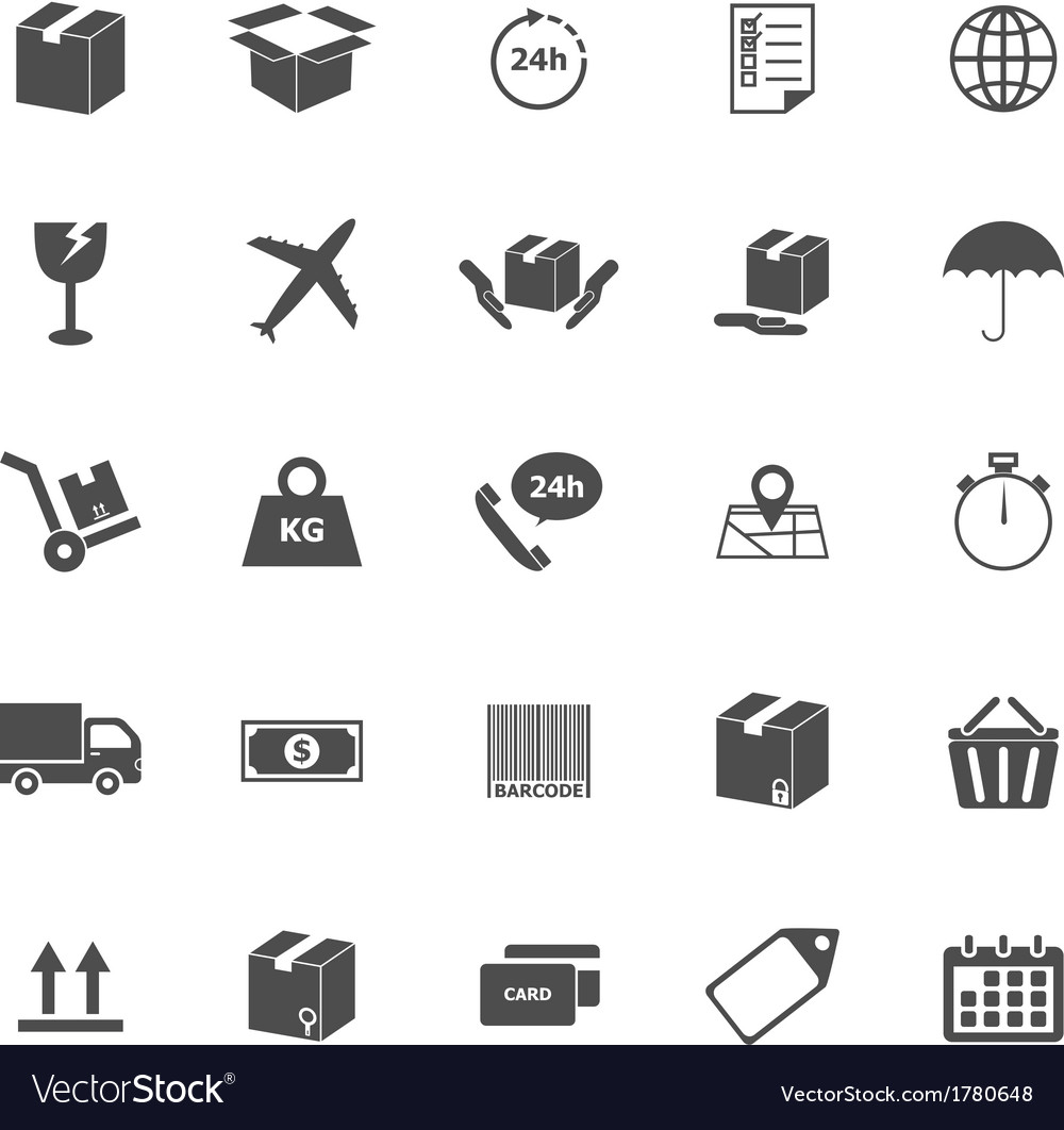 Shipping icons on white background vector image