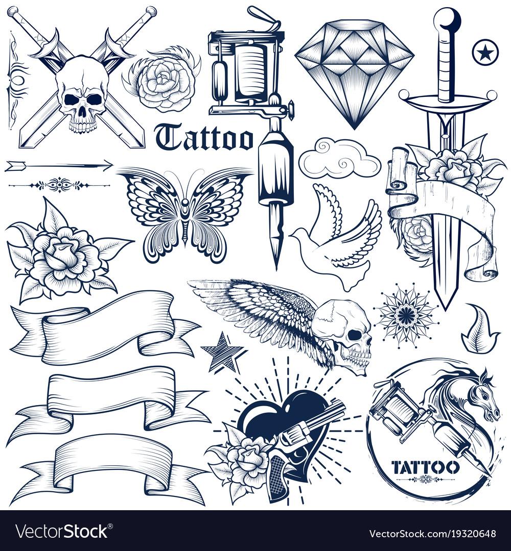 Tattoo art design skull horse and flora