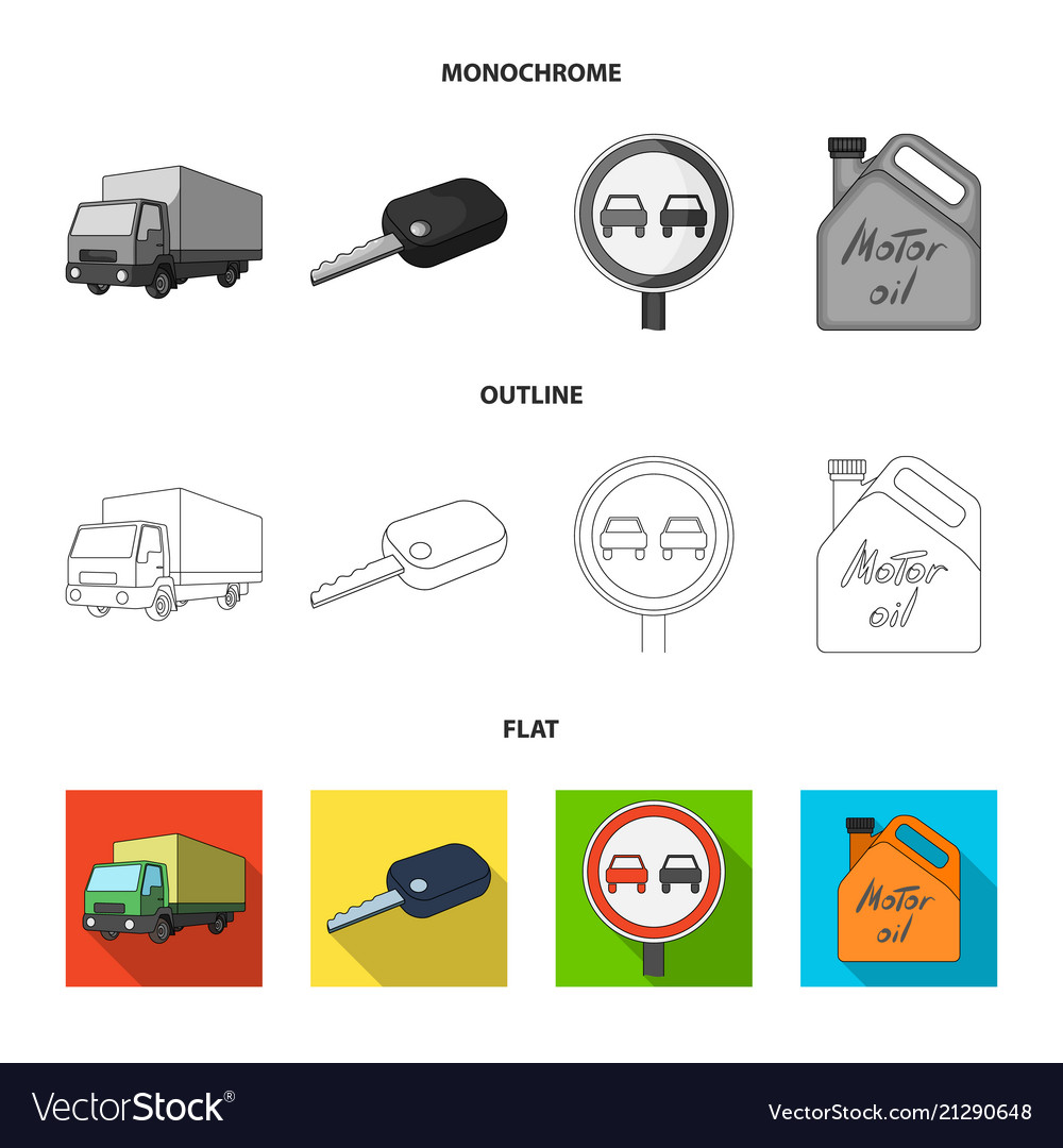 Truck with awning ignition key prohibitory sign