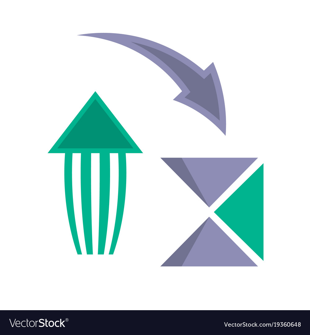 Vintage arrows symbols in flat style