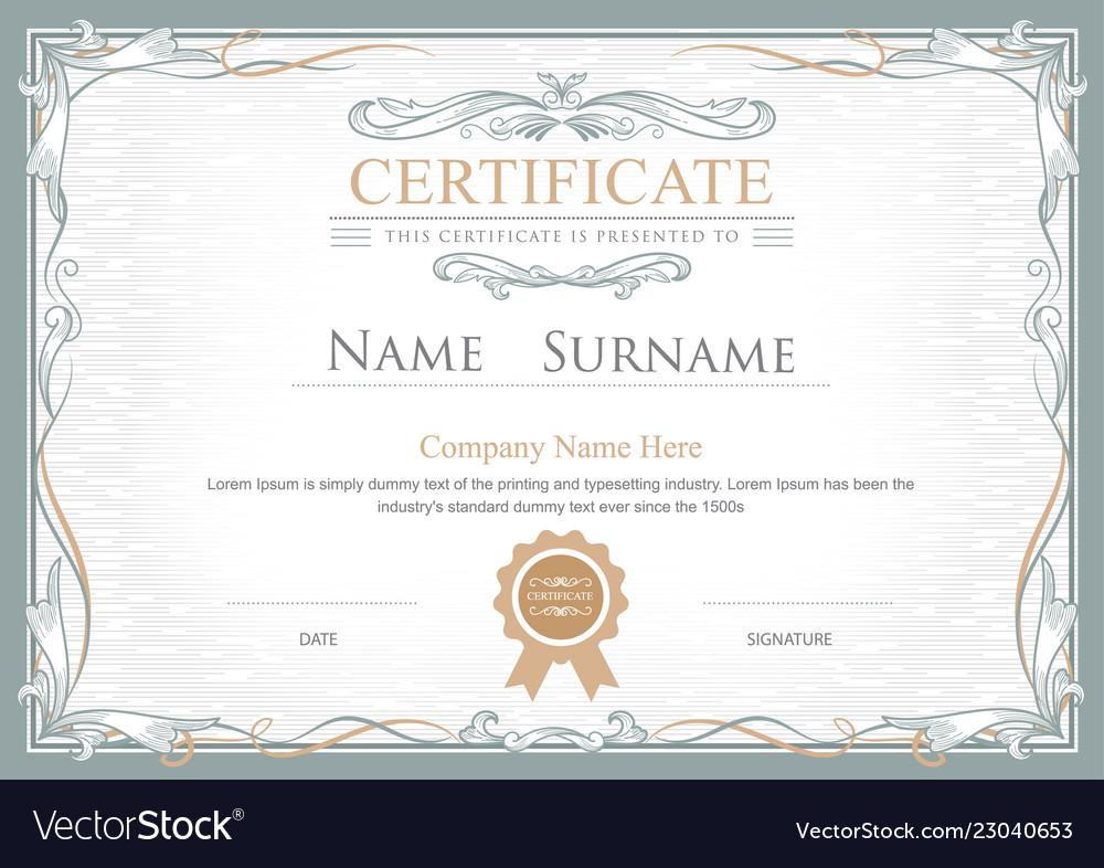 Achievement certificate flourishes elegant