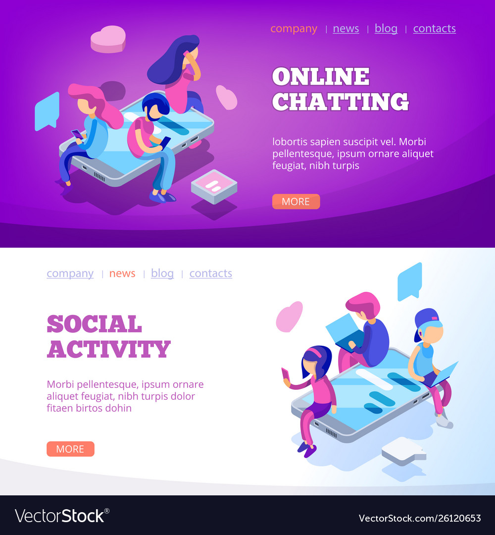 Chat landing virtual relationship people talking