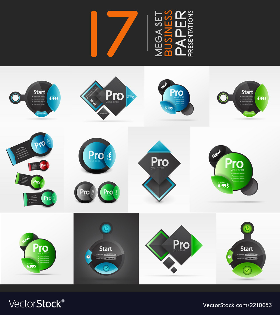 geometric business presentation layouts royalty free vector